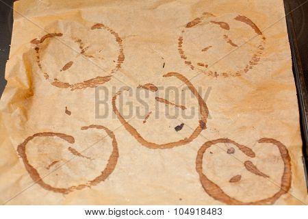 Pretzel Stains On Baking Paper
