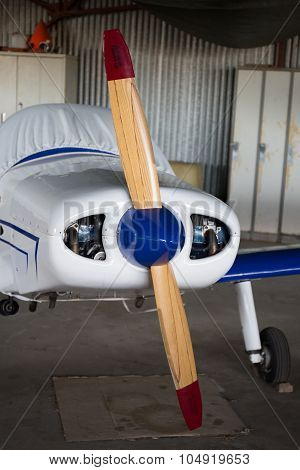 Beautiful Small Airplane At The Airport - Propeller Plane