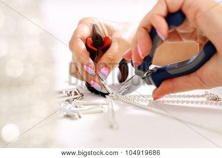Workshop jewelery.