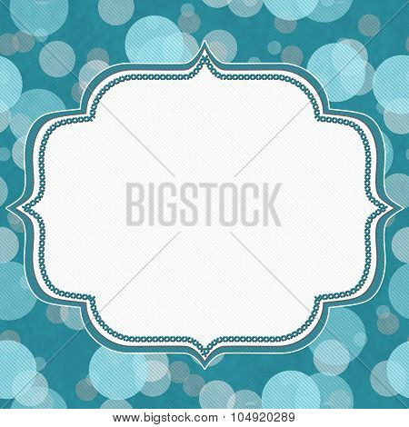 Teal And Gray Polka Dot Frame Background