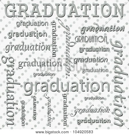 Graduation Design With Gray And White Polka Dot Tile Pattern Repeat Background