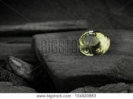 Jewelry Precious Gem On Darck Background