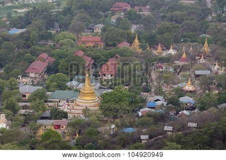 Asia Myanmar Mandalay Hill Temple