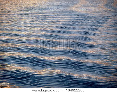 Sea Surface Blue Ripples Waves