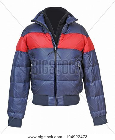 fashion winter jacket  isolated on white background