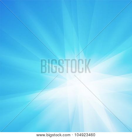 Blue Rays Crystal Texture Background