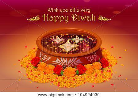 Holy diya for Diwali festival