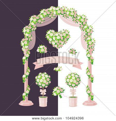 Floral Decoration Cream Color