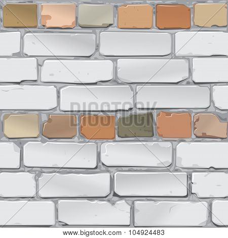 Old bricklaying. Red and gray brick