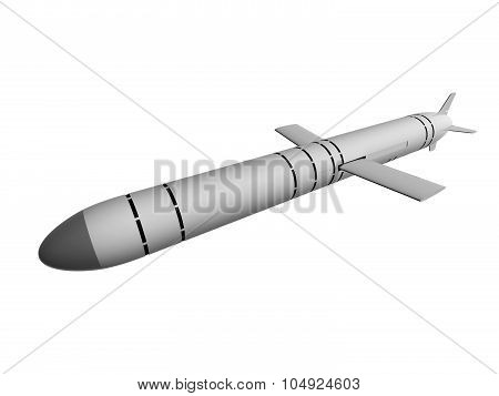 Cruise Missiles Isolated On White Background