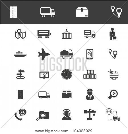 delivery, logistics, navigation icons