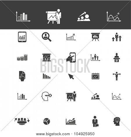 presentation, economics, statistics icons