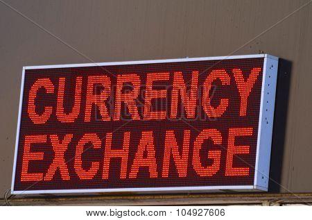 KIEV, UKRAINE - October 15, 2015:  Money exchange office.1-st day after defolt