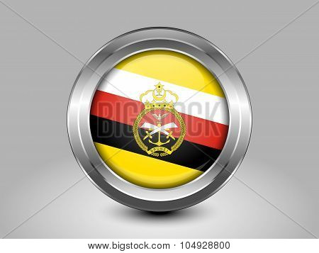 Brunei Army Ensign. Metal Round Icon