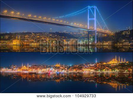 Beautiful View Of Bosphorus And Cityscape Istanbul