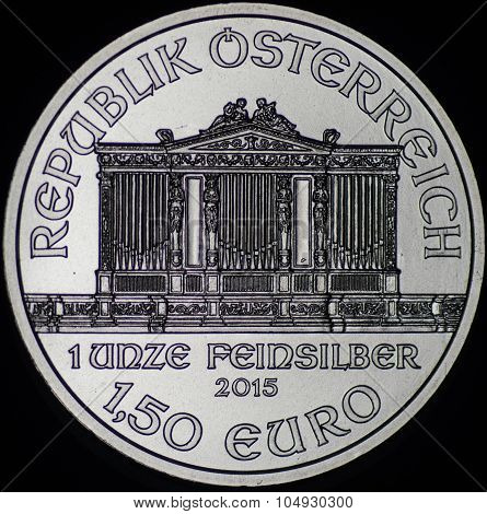Austrian Philharmonic Silver Coin (reverse)