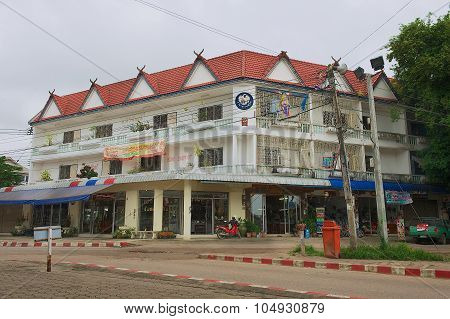 Exterior of the local authorities building in Mae Sot, Thailand.