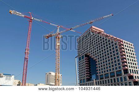 Construction Work Site On Tel Aviv