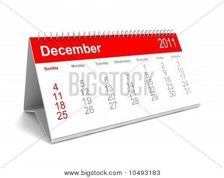 3D calendar December 2011