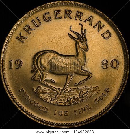 South African Gold Krugerrand Fine Gold Coin