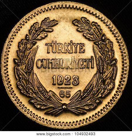 This Kurush Ataturk Turkish Gold Coin