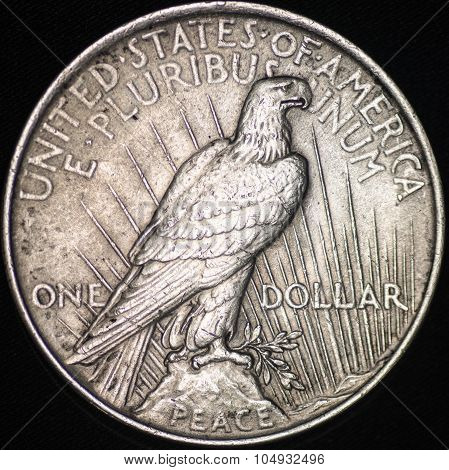 The United States Silver Peace Dollar (reverse)
