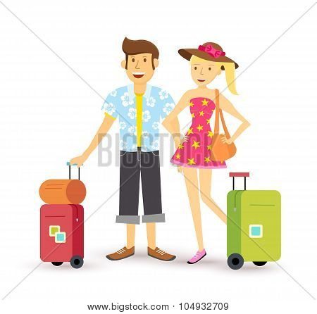 Young Couple Summer Holiday Vacation Travel Summer