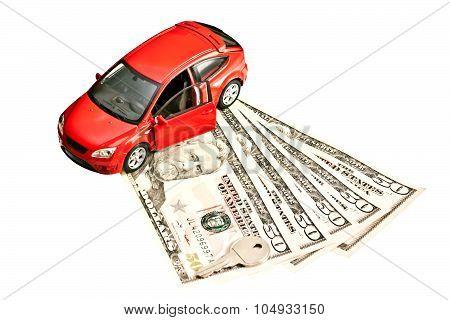 Car, Key And Money