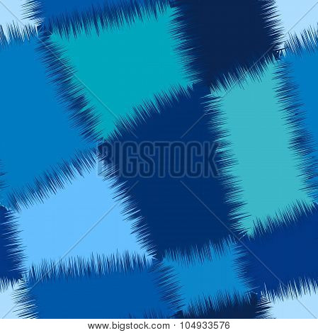 Seamless abstract geometric pattern in blue colours