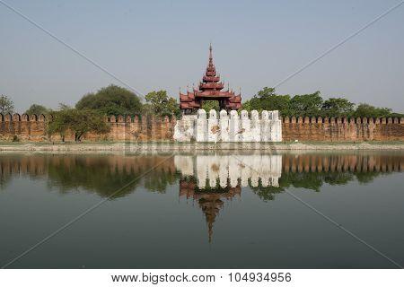 Asia Myanmar Mandalay Fortress Wall