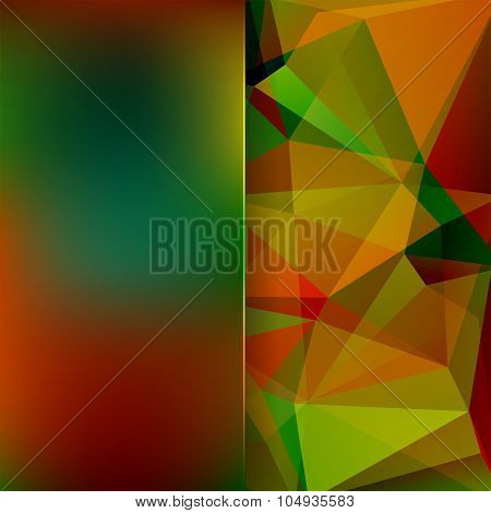 Abstract Background Consisting Of Triangles And Matt  Glass, Autumn Color