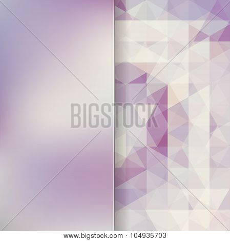Abstract Background Consisting Of Gray Triangles And Matt  Glass