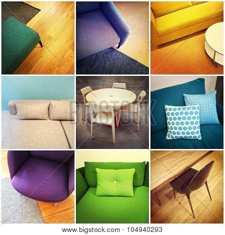 Modern Furniture Collage