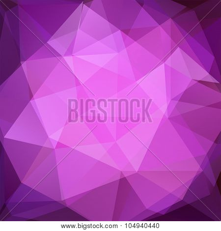 Abstract Background Consisting Of Oink, Purple Triangles, Vector Illustration
