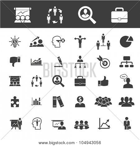 career, job, headhunter icons