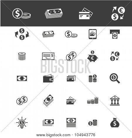 banknote, cash, money icons