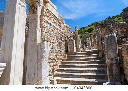 The Ruins Of The Ancient City Of Ephesus, Selcuk, Turkey