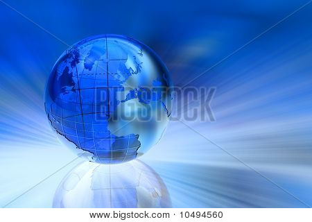 Blue business background