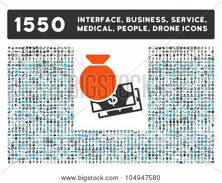 Capital Icon and More Interface, Business, Medical, People, Awards Glyph Symbols