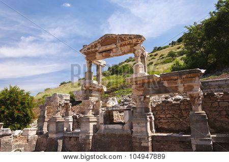 Fountain Of Trajan, Ephesus Ancient City, Selcuk, Turkey