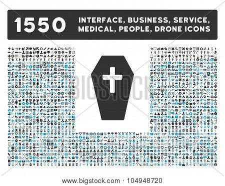 Coffin Icon and More Interface, Business, Medical, People, Awards Glyph Symbols