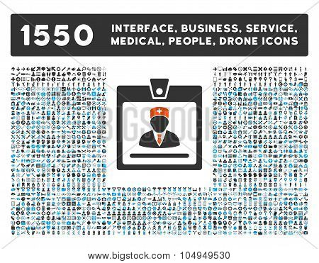 Doctor Badge Icon and More Interface, Business, Medical, People, Awards Glyph Symbols