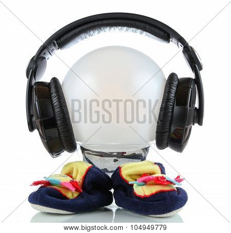 Little Toy Martian With Headphones