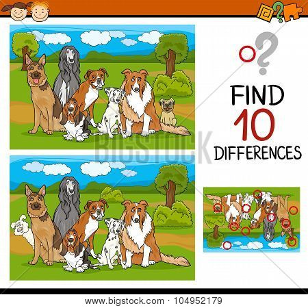 Finding Differences Task For Kids