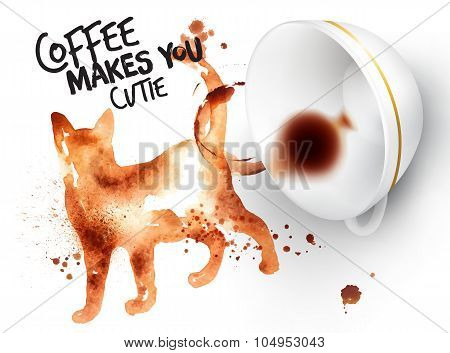 Poster Wild Coffee Cat