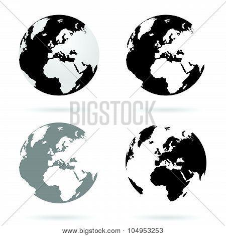 Planet Earth Atlas Set Vector