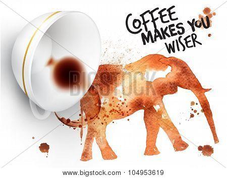 Poster Wild Coffee Elephant