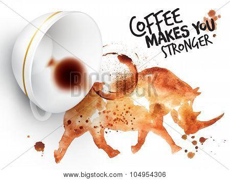Poster Wild Coffee Rhino
