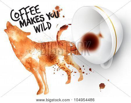 Poster Wild Coffee Wolf