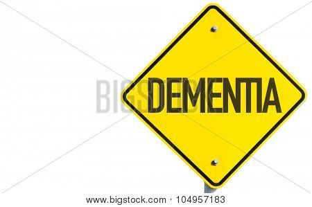 Dementia sign isolated on white background